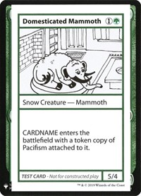 Domesticated Mammoth, Magic: The Gathering, Mystery Booster: Convention Edition Exclusives