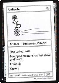 Unicycle, Magic: The Gathering, Mystery Booster: Convention Edition Exclusives