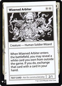 Wizened Arbiter, Magic: The Gathering, Mystery Booster: Convention Edition Exclusives