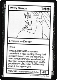 Witty Demon, Magic: The Gathering, Mystery Booster: Convention Edition Exclusives