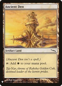 Ancient Den, Magic: The Gathering, Mystery Booster Cards