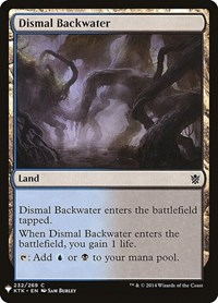 Dismal Backwater, Magic: The Gathering, Mystery Booster Cards