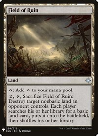 Field of Ruin, Magic: The Gathering, Mystery Booster Cards