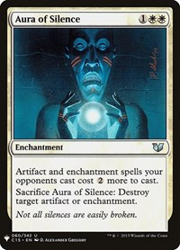 Aura of Silence, Magic: The Gathering, Mystery Booster Cards
