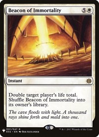 Beacon of Immortality, Magic: The Gathering, Mystery Booster Cards