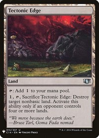 Tectonic Edge, Magic: The Gathering, Mystery Booster Cards
