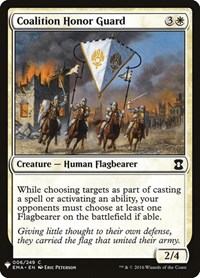 Coalition Honor Guard, Magic, Mystery Booster Cards