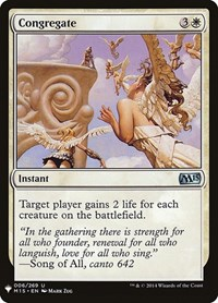 Congregate, Magic: The Gathering, Mystery Booster Cards