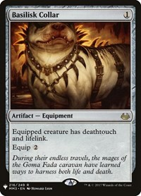 Basilisk Collar, Magic: The Gathering, Mystery Booster Cards