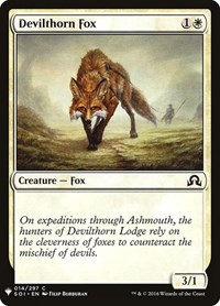Devilthorn Fox, Magic: The Gathering, Mystery Booster Cards
