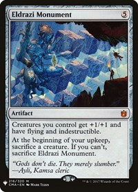 Eldrazi Monument, Magic: The Gathering, Mystery Booster Cards