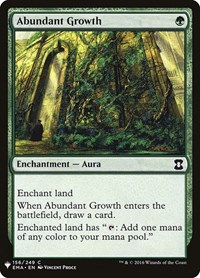 Abundant Growth, Magic: The Gathering, Mystery Booster Cards