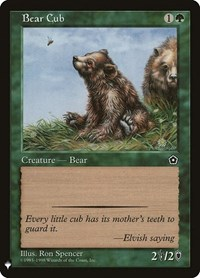 Bear Cub, Magic: The Gathering, Mystery Booster Cards
