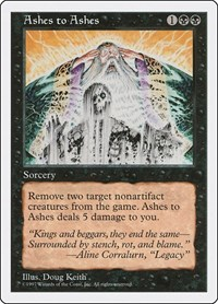 Ashes to Ashes, Magic: The Gathering, Fifth Edition