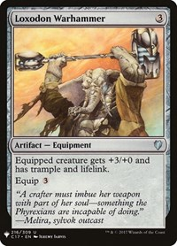 Loxodon Warhammer, Magic: The Gathering, Mystery Booster Cards