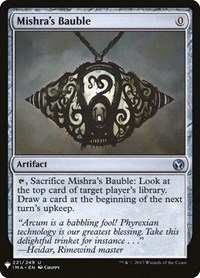 Mishra's Bauble, Magic: The Gathering, Mystery Booster Cards