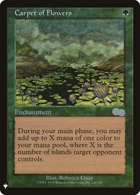 Carpet of Flowers, Magic: The Gathering, Mystery Booster Cards
