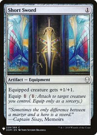 Short Sword, Magic: The Gathering, Mystery Booster Cards
