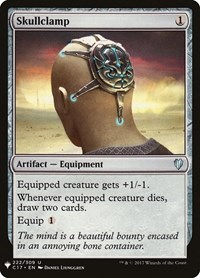 Skullclamp (C17), Magic: The Gathering, Mystery Booster Cards