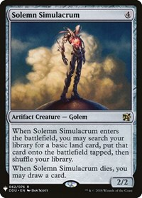Solemn Simulacrum, Magic: The Gathering, Mystery Booster Cards