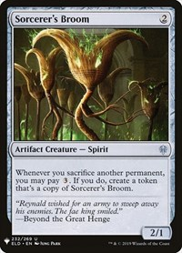 Sorcerer's Broom, Magic: The Gathering, Mystery Booster Cards