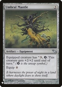 Umbral Mantle, Magic: The Gathering, Mystery Booster Cards