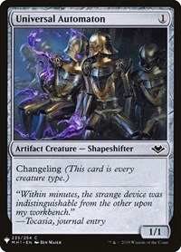 Universal Automaton, Magic: The Gathering, Mystery Booster Cards
