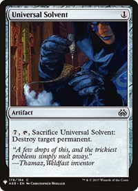 Universal Solvent, Magic, Mystery Booster Cards