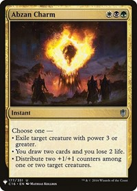 Abzan Charm, Magic: The Gathering, Mystery Booster Cards