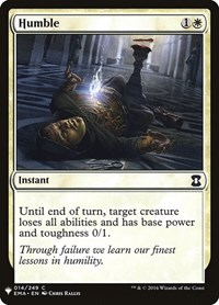 Humble, Magic: The Gathering, Mystery Booster Cards