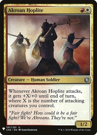 Akroan Hoplite, Magic, Mystery Booster Cards
