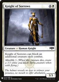 Knight of Sorrows, Magic: The Gathering, Mystery Booster Cards
