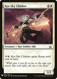 Kor Sky Climber, Magic: The Gathering, Mystery Booster Cards