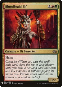 Bloodbraid Elf, Magic: The Gathering, Mystery Booster Cards
