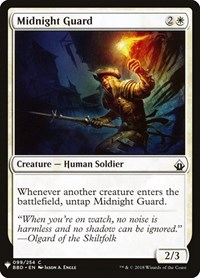 Midnight Guard, Magic: The Gathering, Mystery Booster Cards