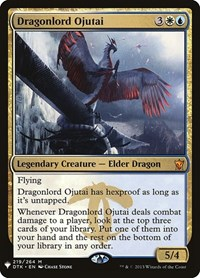 Dragonlord Ojutai, Magic: The Gathering, Mystery Booster Cards