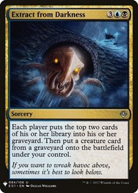 Extract from Darkness, Magic: The Gathering, Mystery Booster Cards