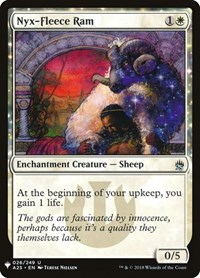 Nyx-Fleece Ram, Magic: The Gathering, Mystery Booster Cards