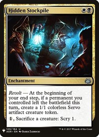 Hidden Stockpile, Magic: The Gathering, Mystery Booster Cards
