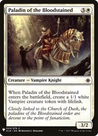 Paladin of the Bloodstained, Magic: The Gathering, Mystery Booster Cards