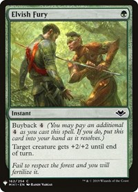 Elvish Fury, Magic: The Gathering, Mystery Booster Cards