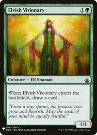Elvish Visionary, Magic: The Gathering, Mystery Booster Cards
