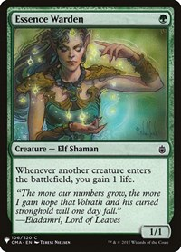 Essence Warden, Magic: The Gathering, Mystery Booster Cards