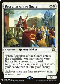 Recruiter of the Guard, Magic: The Gathering, Mystery Booster Cards