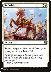 Refurbish, Magic: The Gathering, Mystery Booster Cards