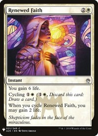 Renewed Faith, Magic: The Gathering, Mystery Booster Cards