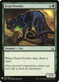 Feral Prowler, Magic: The Gathering, Mystery Booster Cards