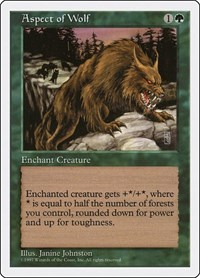 Aspect of Wolf, Magic: The Gathering, Fifth Edition