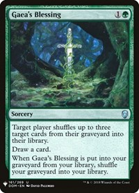 Gaea's Blessing, Magic: The Gathering, Mystery Booster Cards