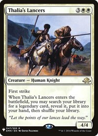Thalia's Lancers, Magic: The Gathering, Mystery Booster Cards